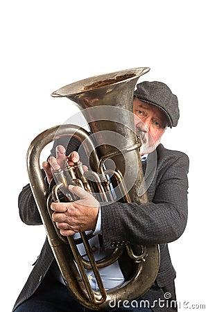 Free A Man Playing A Tuba Stock Image - 51547121