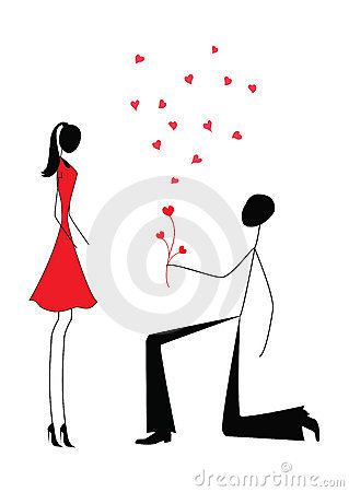 Free A Man Proposing To A Woman Royalty Free Stock Images - 20835869
