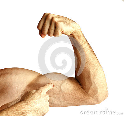 Free A Man Shows Arm Strength. Stock Images - 89469464
