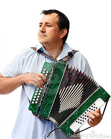 Free A Man With Accordion Royalty Free Stock Photos - 1346788