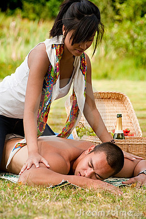 Free A Massage For Him Royalty Free Stock Photo - 11049135