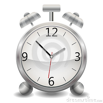 Free A Metallic Mechanical Realistic Alarm Clock, A Clock Showing Fifty-three Minutes After One O`clock In The Afternoon Stock Photography - 95097332