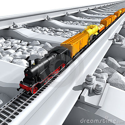 Free A Miniature Model Of The Train Stock Photography - 17490732