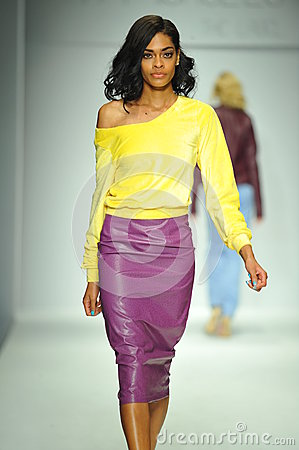 Free A Model Walks Runway At R. Michelle Show Royalty Free Stock Photos - 38770308