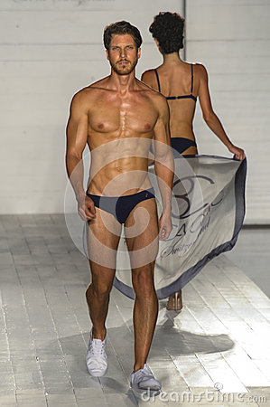 Free A Model Walks The Runway At The Barraca Chick Fashion Show During MBFW Swim 2015 Royalty Free Stock Image - 51592586