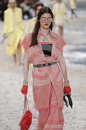 Free A Model Walks The Runway During The Chanel Show As Part Of The Paris Fashion Week Womenswear Spring/Summer 2019 Royalty Free Stock Photos - 144145468