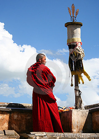Free A Monk In Ta Er Monastery Stock Photography - 10824802