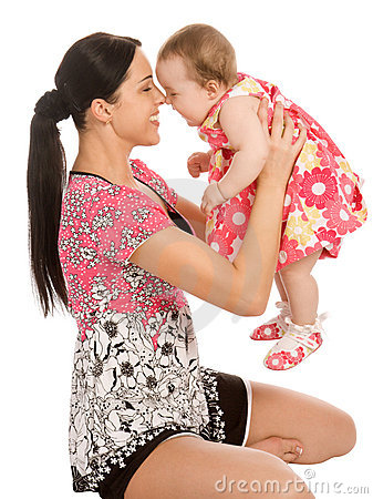 Free A Mother Hold His Infant Child Stock Photography - 5450812