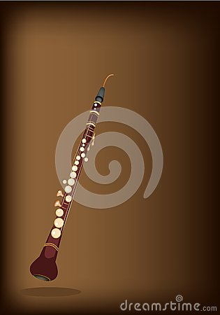 Free A Musical Cor Anglais On Dark Brown Background Stock Photos - 31789383