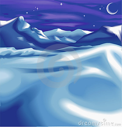 Free A Night Time Winter Scene Stock Photo - 2177550
