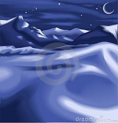 Free A Night Time Winter Scene Stock Photos - 2177553
