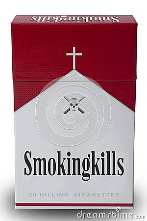 Free A Pack Of Smoking Kills Royalty Free Stock Photos - 23008598
