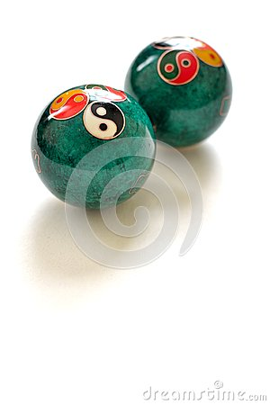 Free A Pair Of Chinese Anti-stress Balls Stock Photos - 54898173
