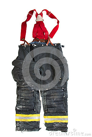 Free A Pair Of Firefighter Pants On White Background Royalty Free Stock Image - 44895256