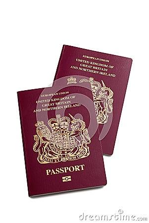 Free A Pair Of UK British Passports Stock Photo - 25345180