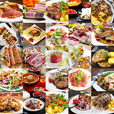 Free A Photo Collage Of Meat Dishes Of International Cuisine Royalty Free Stock Photo - 80575345