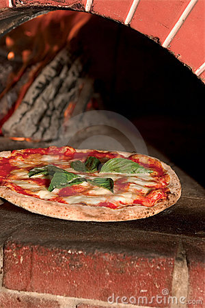 Free A Pizza Fresh Out Of A Wood-fired Brick Oven Stock Images - 13806854