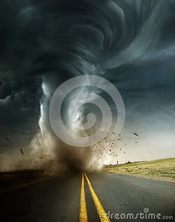 Free A Powerful And Destructive Tornado Royalty Free Stock Image - 119487316