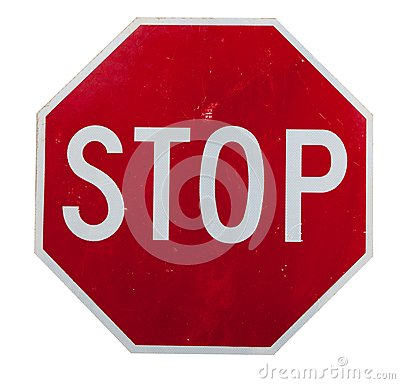 Free A Red Stop Sign On White Stock Photos - 27344123