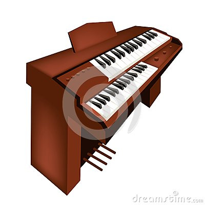 Free A Retro Pipe Organ Isolated On White Background Royalty Free Stock Image - 31180456