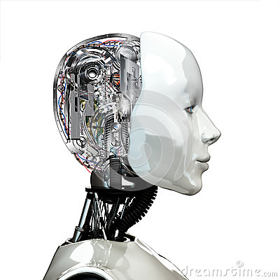 Free A Robot Woman Head With Internal Technology Stock Photo - 36418610