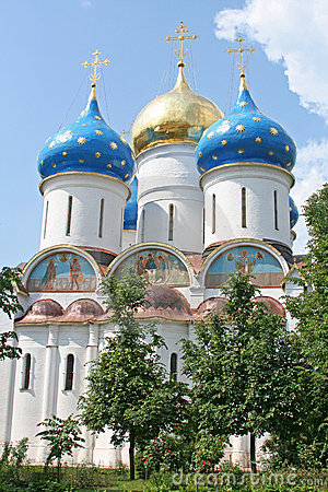 Free A Russian Ortodox Church At The Trinity-Sergius Lavra (build In Stock Image - 1405691