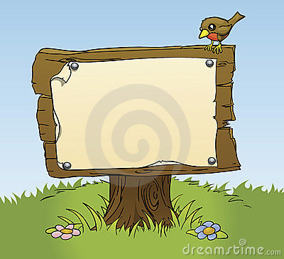 Free A Rustic Wooden Sign Stock Image - 17968041