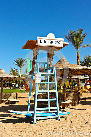 Free A Seat For Lifeguard At The Beach Stock Photography - 30122632