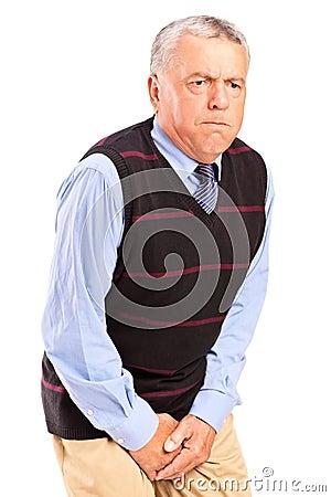 Free A Senior Man With Bladder Control Problem Stock Photo - 27221180