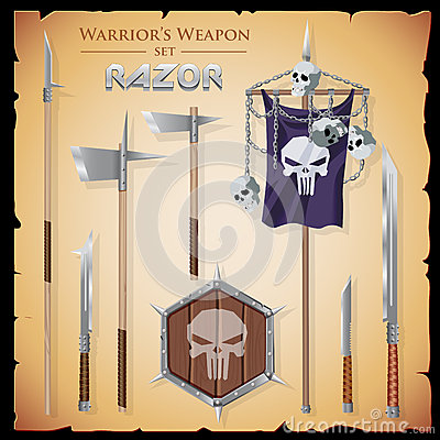 Free A Set Meele Weapon To Fantasy Style Stock Photography - 73121332