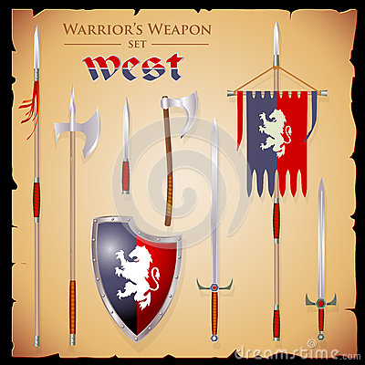 Free A Set Meele Weapon To Fantasy Style Stock Image - 73121361
