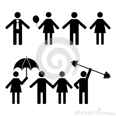 Free A Set Of Stick Figures, Vector Illustration. Stock Images - 77510474