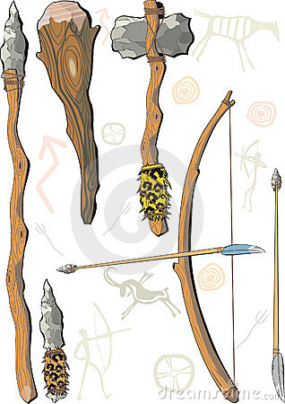 Free A Set Of Weapon Prehistoric Man Stock Image - 10611121