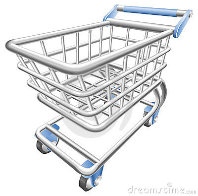 Free A Shiny Shopping Cart Trolley Illustration Royalty Free Stock Photos - 14599178