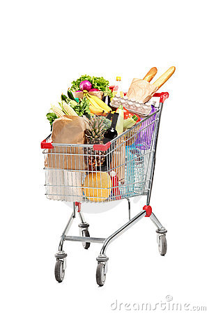 Free A Shopping Bag Full With Groceries Royalty Free Stock Photography - 20449427