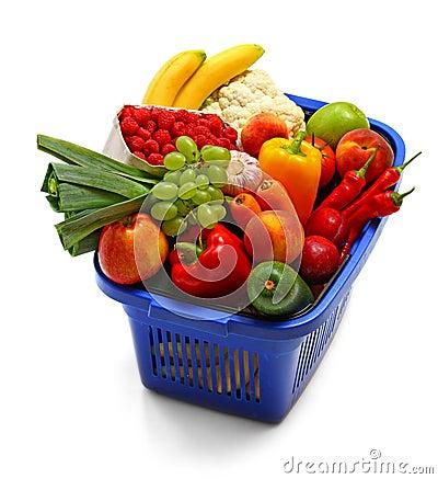 Free A Shopping Basket Full Of Fresh Produce Stock Photo - 11368800