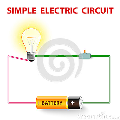 Free A Simple Electric Circuit Stock Photos - 34345333