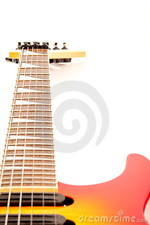 Free A Six String Electric Guitar Isolated On A White Stock Photo - 15081980