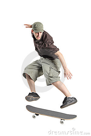 Free A Skateboarder Jumping Royalty Free Stock Photography - 10027457