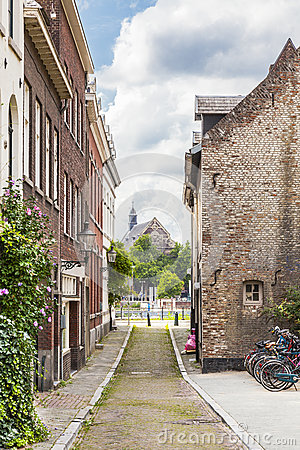 Free A Small Street In Maastricht Royalty Free Stock Photo - 43363805