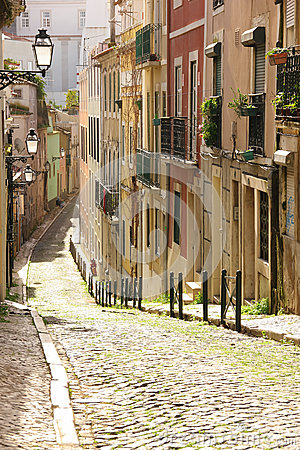 Free A Street In The Old Town. Lisbon. Portugal Royalty Free Stock Images - 31103399