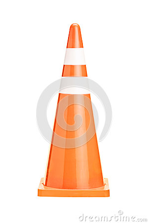 Free A Studio Shot Of An Orange Construction Cone Royalty Free Stock Photo - 28105195