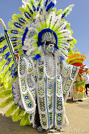 Free A Tall Male Celebrant Is Dressed In Indian Garb On Carnival Day In Trinidad Stock Photo - 79477030
