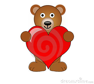 Free A Teddy Bear Holding A Love Heart Stock Image - 625121