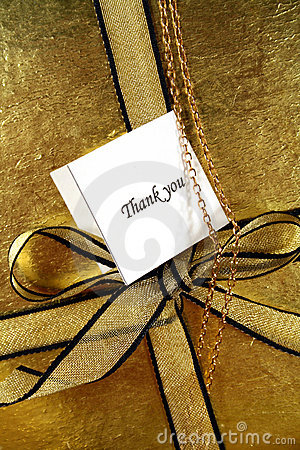 Free A Thank You Gift Stock Images - 1524794