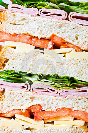 Free A Tripple Decker Sandwiches Stock Image - 4563681