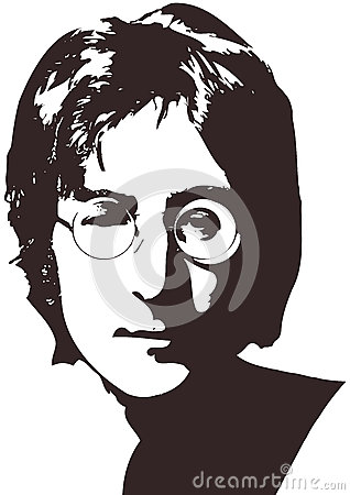 Free A Vector Illustration Of A Portrait Of Singer John Lennon On A White Background. A4 Format, Eps 10 On Layers. Royalty Free Stock Image - 79830876