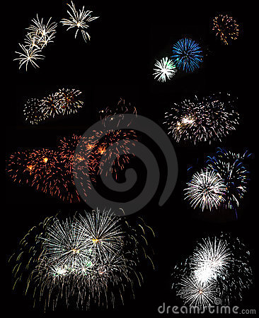 Free A View Of The Beautiful Fireworks Stock Images - 15103024
