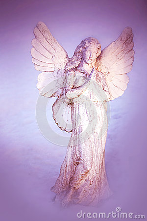 Free A White Angel Praying Stock Photography - 49895962