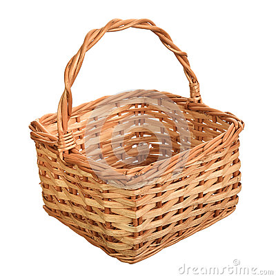 Free A Wicker Basket With Handle. Stock Photography - 31142192